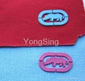 Rubber embossed labels