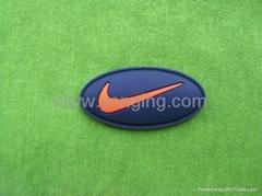 运动品牌硅胶商标标牌