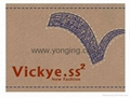leather label embroidery logo