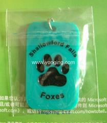 硅胶匙链 带商标标牌