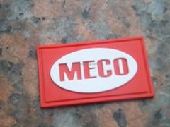 纯色红白硅胶标签,硅胶标牌