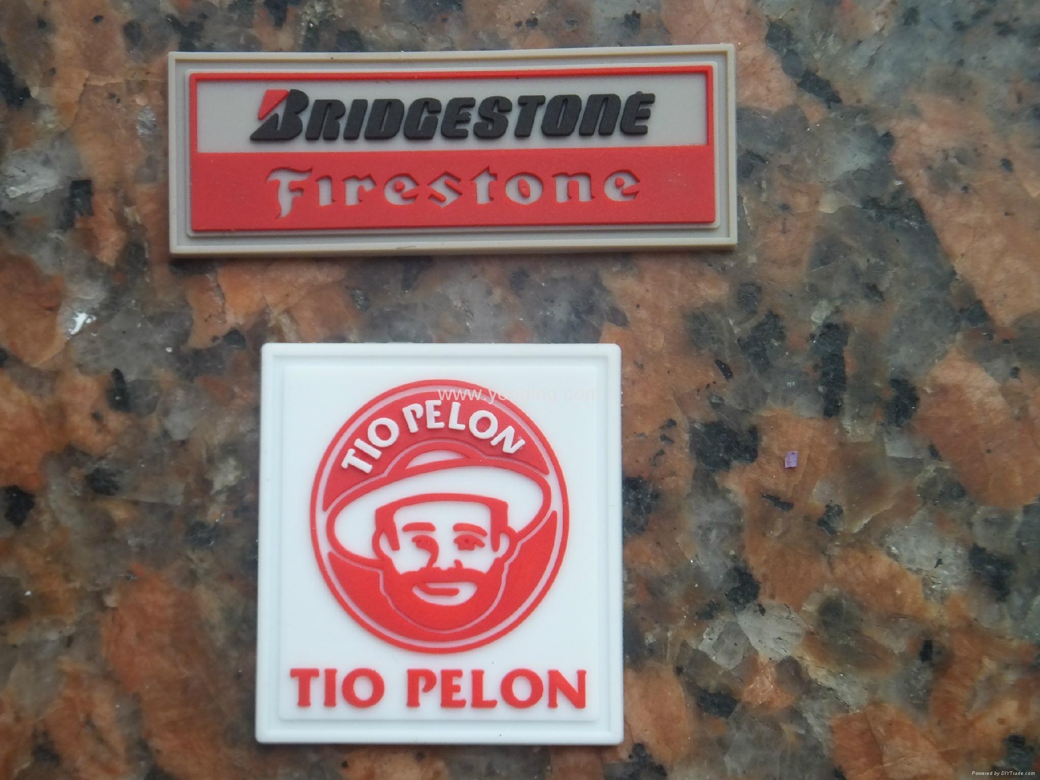 silicone rubber label/logo