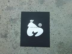 純色黑白3D熱 轉印標牌、標籤