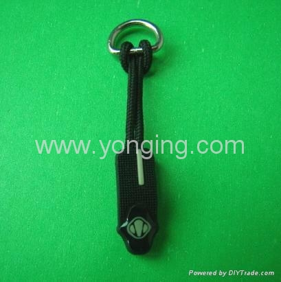 silicone zipper puller tabs