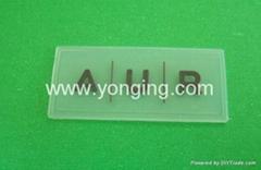 长方形透明纯色硅胶标签,硅胶标牌