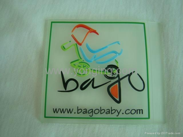 silicone label,clear label logo
