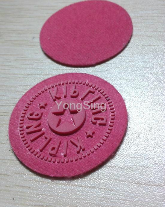 felt embossed label logo ,microfiber label logo