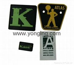 彩色硅膠商標標牌( 3D植膠標牌)