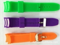 colorful silicone watch band