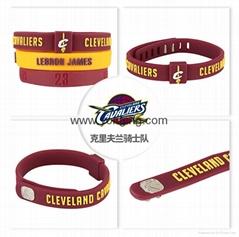 NBA籃球隊硅膠手腕帶