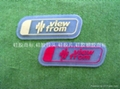 Transparent  silicone label,embossed logo, clear patch