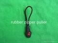 rubber zipper puller ,cord zipper puller
