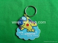 colorful cute silicone  keychain,
