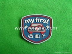徽章型硅膠商標