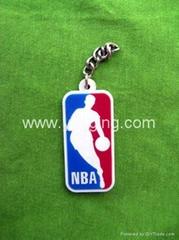 NBA 商标pvc 钥匙扣
