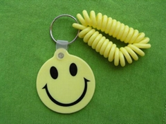 happy face pvc keychain,