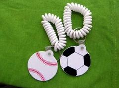 球類造型pvc 鑰匙扣
