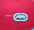 logo on cloth,embossing