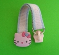 hello kitty style slider puller ,rubber zipper puller