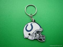 NFL 造型彩色pvc 钥匙扣