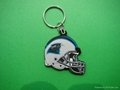 NFL,pvc keychain,