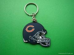 NFL造型pvc 鑰匙扣