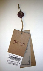 fabric,brown paper hangtags