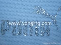 运动品牌矽胶植胶,织带,毛毡植胶