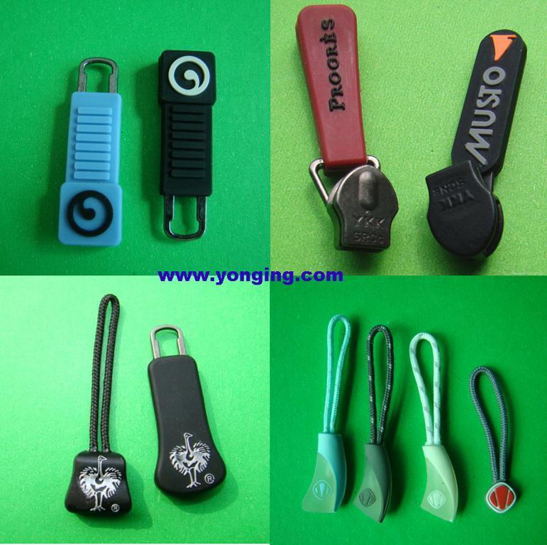 Ykk slider puller,rubber zipper puller 2