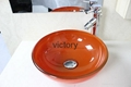 Contemporary Tempered Glass Vessel Sink