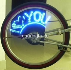 Bike Bicycle Wheel Spoke 14 LED Blue Light 40 Patterns