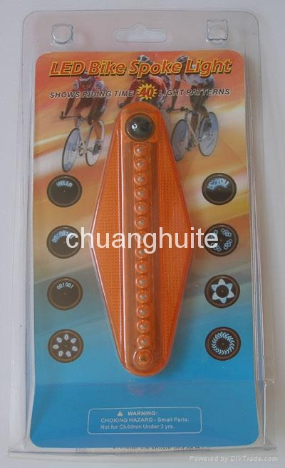 Bicycle 40-pattern LED Spoke Wheel Light 4