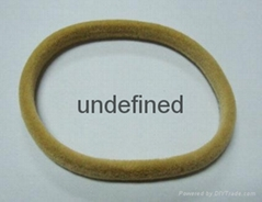 hair band coated with flocking