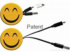 伸缩充电数据传输线