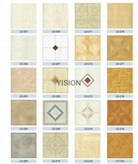 Floral PVC Vinly Floor Tiles