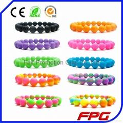Wholesale Multicolour Silicone Bead Bracelet