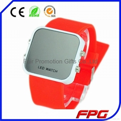 Colorful Cool Silicone Screen Mirror LED Watch