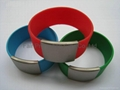 Multicolor Stainless Steel Silicone Bracelet 2