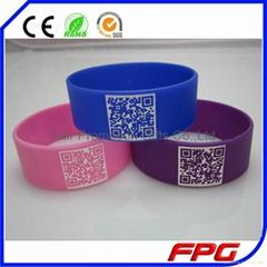 QR code silicone bracelet
