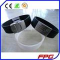 Stainless steel id qr code bracelet