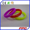 Printed logo Silicone Motorcycle Tire Bracelet  2