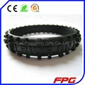 Printed logo Silicone Motorcycle Tire Bracelet  3