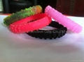 Printed logo Silicone Motorcycle Tire Bracelet  5