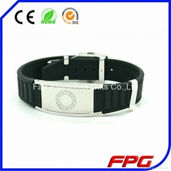 Titanium FIR Germanium Magnetic Balance Power Energy Bracelet with Clasp
