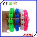 Motorcycle Chain Link Wristband Silicone