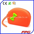 Fashion silicone zipper bag with butterfly 1