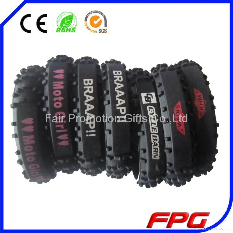 Silicone Motorcycle Tire Bracelet