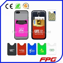 3M Adhesive Stickers Silicone Phone Card Holder Phone Wallets