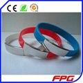 Silicone and Stainless steel ID Bracelet