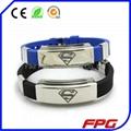 Adjustable Size Silicone mens Bracelet